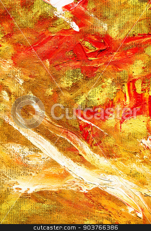 abstract red and yellow background stock photo, high resolution abstract red and yellow painted background by Suchota
