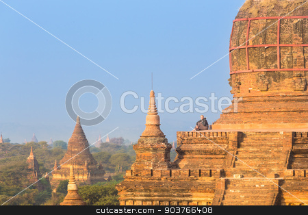 Tamples of Bagan, Burma, Myanmar, Asia. stock photo, Temples of Bagan an ancient city located in the Mandalay Region of Burma, Myanmar, Asia. by kasto