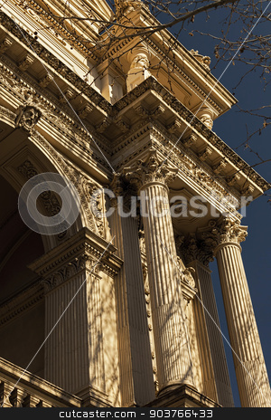 Stunning Old Building stock photo, Stunning Photo of Detailed Architecture on an Old Building in Bendigo, Victoria Australia by Ron Kidd