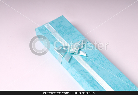 Gift box stock photo, Turquoise gift box by Minh Tang