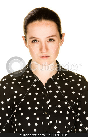 Irritated Girl stock photo, An irritated young girl on a white background by Scott Griessel