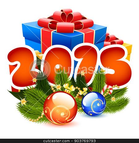 Christmas Illustration stock vector clipart, Christmas Illustration 2015 by Vadym Nechyporenko