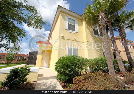 Front Exterior stock photo, A Front Exterior of a Townhome in Florida by Lucy Clark
