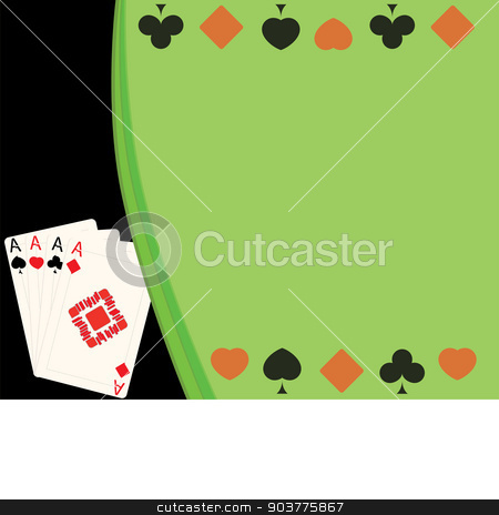 four cards stock vector clipart, vector illustration background of four cards and card suits by Serebrov