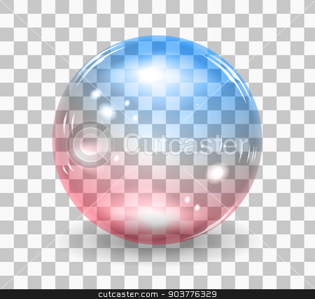 Bubble soap stock photo, Transparent soap bubble. Vector realistic illustration on checkered background by sermax55