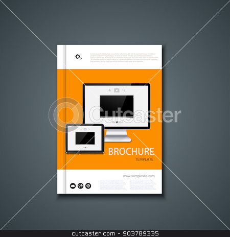 Vector flyer or banner. Brochure template design.  stock vector clipart, Vector flyer or banner. Brochure template design. Eps10 by petr zaika