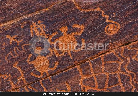 Petroglyph Turtles stock photo, Petroglyph turtles in Sinaguan style petroglyph by Scott Griessel