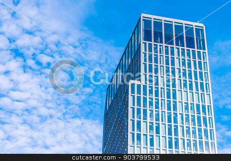 Office building in the sky stock photo, Skyscraper with many windows by Kasper Nymann