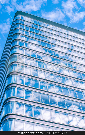 Tall office building with windows stock photo, Skyscraper with many windows by Kasper Nymann