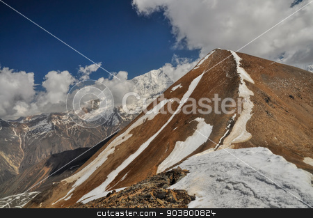 Ridge in Himalayas stock photo, Scenic ridge in Himalayas mountains in Nepal by Michal Knitl