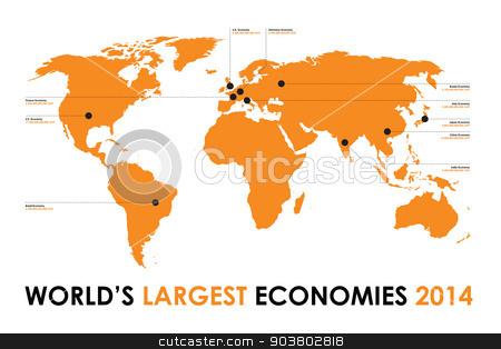 world economy background stock vector clipart, world economy background by jameschipper