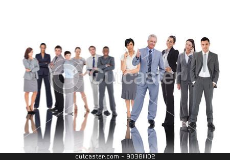 Composite image of business people stock photo, Composite image of business people on white background by Wavebreak Media