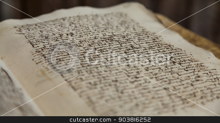 300 years old book stock photo, Detail of an old Spanish book, 300 years old by Paolo Gallo