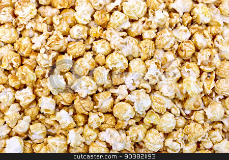 Popcorn caramel texture stock photo, The texture from popcorn with the caramel  by rezkrr