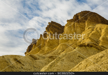 Sky and Cliffs Death Valley stock photo, Golden Canyon cliffs in Death Valley USA by Scott Griessel