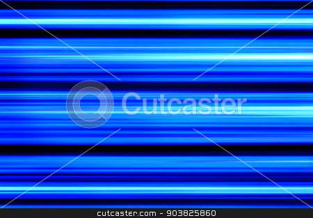 Blue Abstract stock photo, Background with blue and black abstract glowing lines. by Henrik Lehnerer
