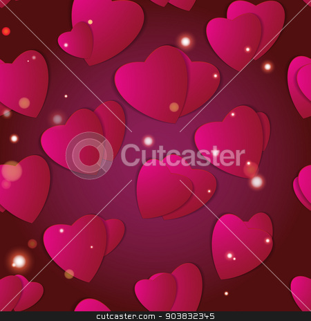Valentines day. Abstract paper hearts. Love. Valentine background with hearts stock vector clipart, Valentines day. Abstract paper hearts. Love. Valentine background with hearts by LittleCuckoo