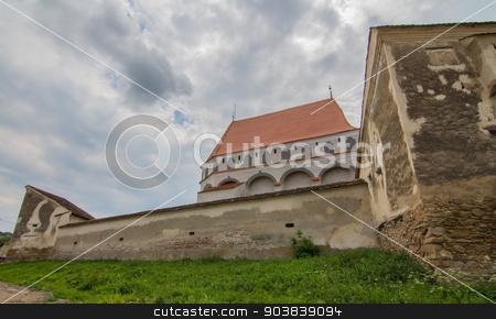 Klosdor stock photo, Nicholas Church Klosdorf Romania by Robert Boss