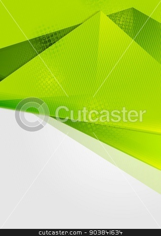 Bright green abstract flyer design stock vector clipart, Bright green abstract flyer design. Vector background by saicle