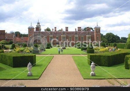 abbey stock photo, Tudor architecture and garden by Saphire Ovadia