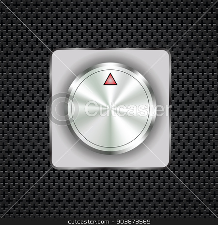 control button stock vector clipart,  illustration  with control button on dark perforated background by valeo5