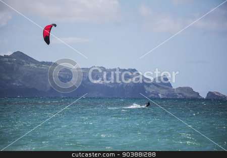 Maui Kite Surfer stock photo, Maui kite surfer from Kanaha Beach Park by Scott Griessel