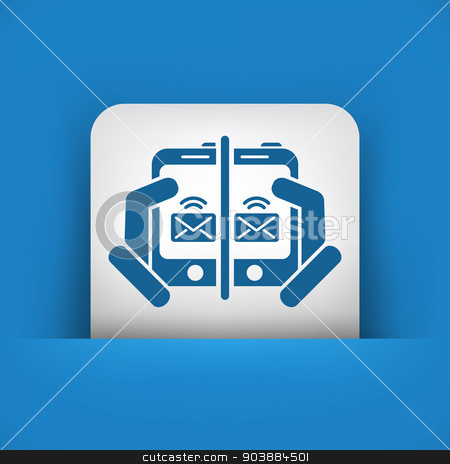 Web message icon stock vector clipart, Web message icon by Myvector