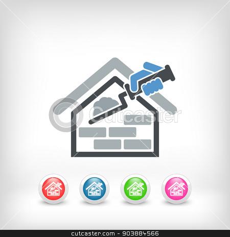 Building icon stock vector clipart, Building icon by Myvector