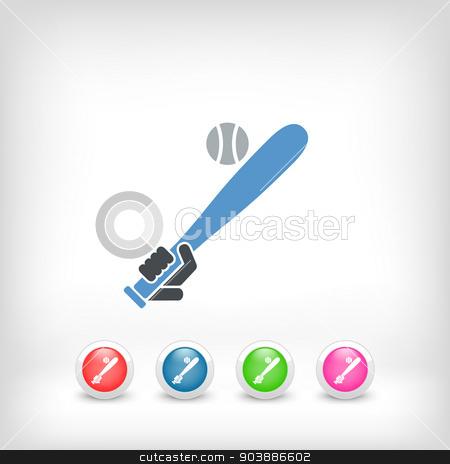 Baseball icon stock vector clipart, Baseball icon by Myvector