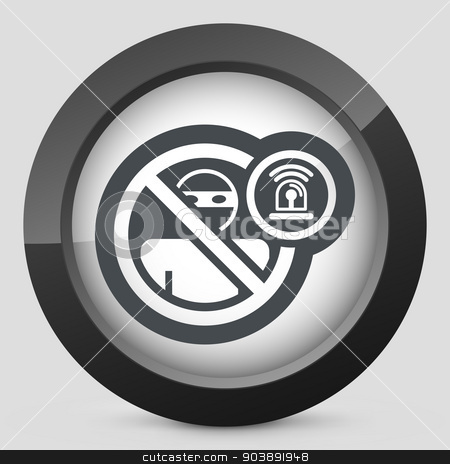 Thief alarm icon stock vector clipart, Thief alarm icon by Myvector