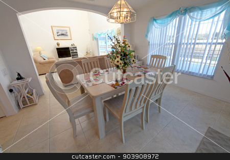 Dining Area stock photo, A Dining Area in a Home in Florida by Lucy Clark