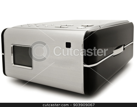 Cd Player stock photo, Photo Of Modern Digital Cd Player Against The White by Sergej Razvodovskij