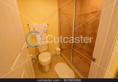 Bathroom stock photo, A Bathroom, interior shot of a home by Lucy Clark