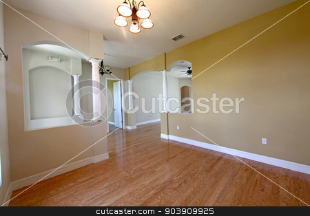 Empty House stock photo, An interior shot of an empty house by Lucy Clark