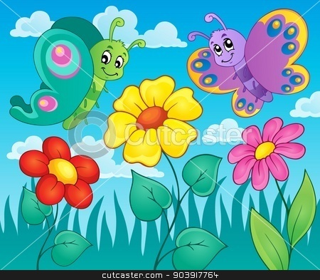 Flower topic image 6 stock vector clipart, Flower topic image 6 - eps10 vector illustration. by Klara Viskova