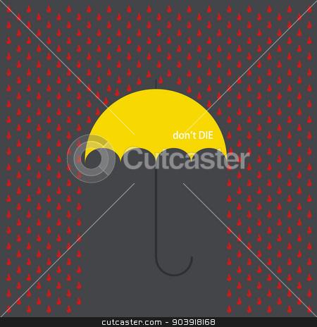 Vector modern umbrella with drops  stock vector clipart, Vector modern umbrella with drops on gray background by petr zaika