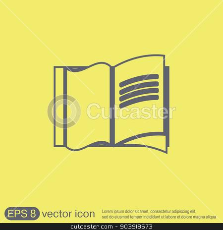 Open book icon stock vector clipart, Open book icon by LittleCuckoo