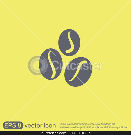 Coffee beans symbol. stock vector clipart, Coffee beans symbol. by LittleCuckoo