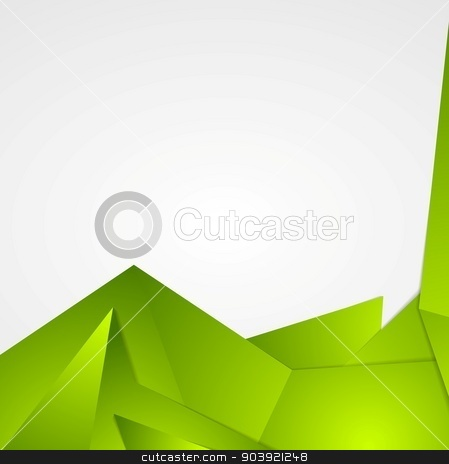 Bright green abstract background design stock vector clipart, Bright green abstract flyer design. Vector background by saicle