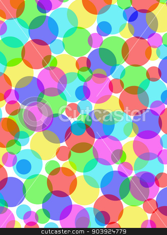 Multicolored overlapping circles background illustration. stock photo, Multicolored overlapping circles background illustration. by Stephen Rees
