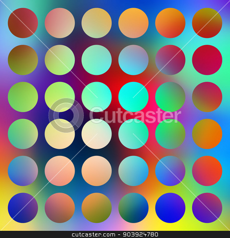 Bright graduated color circles abstract. stock photo, Bright graduated color circles abstract. by Stephen Rees