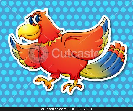 Bird stock vector clipart, Illustration of a close up bird by Matthew Cole