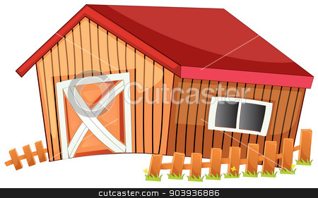 Barn stock vector clipart, Illustration of a close up barn by Matthew Cole