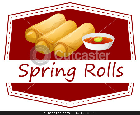 Spring rolls stock vector clipart, Illustration of spring rolls by Matthew Cole