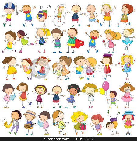 Children  stock vector clipart, Illustration of children  by Matthew Cole