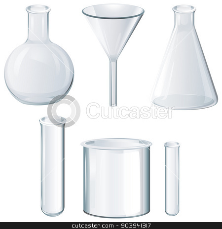 Different laboratory equipments stock vector clipart, Illustration of the different laboratory equipments on a white background by Matthew Cole