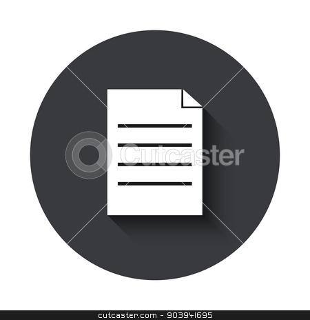 Vector modern  gray circle icon stock vector clipart, Vector modern  gray circle icon on white background by petr zaika