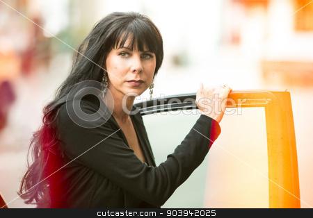 Woman In Light Leak Effect stock photo, Pretty woman with dirty lens light leak effect by Scott Griessel