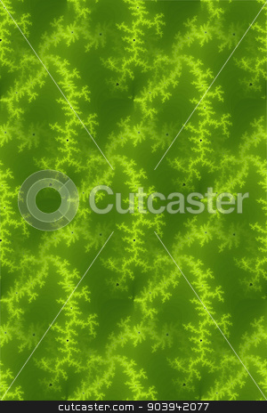 Seamless Fractal Green stock photo, A seamless fractal background in the color of green. by Henrik Lehnerer
