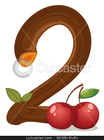 Two cherries stock vector clipart, Illustration of the two cherries on a white background by Matthew Cole